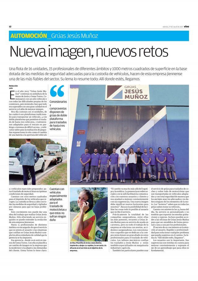 Publirreportaje Grúas Jesús Muñoz en Viva Jaén